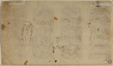Four decorative panels (verso)