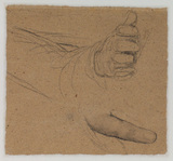 Studies of hands - study for 'Duncan Gray', 1814 (Victoria and Albert Museum) (verso)