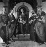 Virgin and Child enthroned with Saint Lawrence, Saint John the Baptist, Saint Monica and Saint Augustine