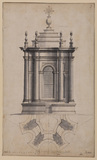 Elevation and plan of the lantern of San Carlo alle Quattro Fontane, Rome