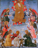 Virgin in Glory surrounded by seven archangels
