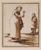 Caricature of two mendicant friars