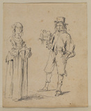 Man and woman in contemporary dress