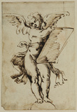 Winged figure - Cupid (?) (recto)