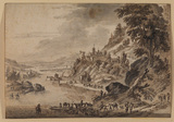 River landscape with figures