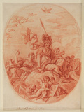 Design for a ceiling panel - Allegory (for the Library in Heath House, Headley, Hampshire)