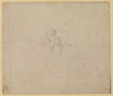 Study of a woman kneeling (verso)