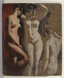 Three standing female nudes (recto)