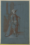 Man in fetters wearing a turban (Farinelli in the role of Arbace ?)