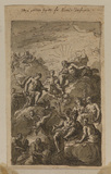 Design for ceiling decoration - Venus petitions Jupiter for Aeneas' deification