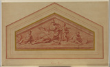 Pediment - allegory of the Arts