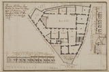 Plan of the ground floor near Sant'Antonio dei Portoghesi incorporating the Torre della Scimmia