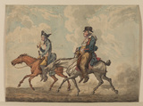 Two men on horseback - La Route de Poissy