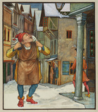 Illustration for 'The Elves and the Shoemaker' - The Shoemaker becomes prosperous