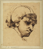 Head of man in cap