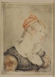 Bust portrait of a young woman