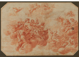 Decorative panel with a gathering of the Gods