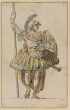 Man in Roman warrior costume