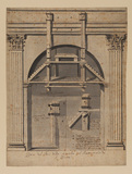 Diagram for the construction of the baptistry of Saint Peter's