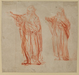 Sheet with two studies for 'Saint John the Baptist' (recto)