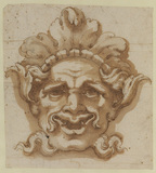 Ornamental mask - head of a satyr