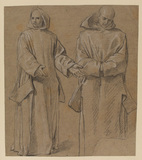 Two standing monks