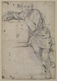 Seated youth (recto)