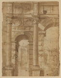 View of a triumphal arch (recto)