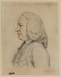 Bust length profile view to left of a man - Dr Rice Charlton of Bath