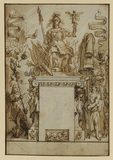 Allegory of Rome - design for a title page