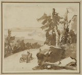 Landscape with horse and carriage