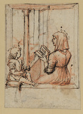 The Virgin reading to the Infant Christ (recto)