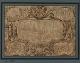 Scenes from the Passion of Christ in an ornamental frame (recto)