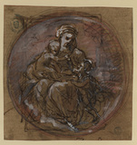 Madonna and Child and infant John the Baptist (recto)