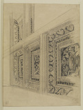 Perspective design of a coffered ceiling