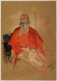 Portrait of a seated cardinal