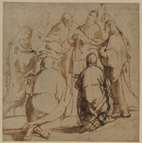 Studies for the Presentation in the Temple (recto)