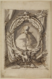 Decorative frame with portrait