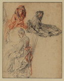Three studies of female figures