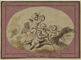 Group of amorini on a cloud