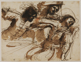 Study for 'The Assassination of Amnon at the feast of Absalom'