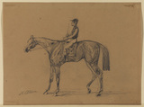 Racehorse and jockey (recto)
