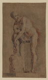 Study of an antique statue - Jason or Cincinnatus (Louvre no. 83)