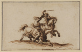 Combat between two horseman