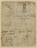 Sketches of emblems (verso)