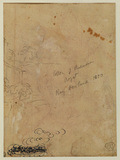 Fragment of landscape sketch (verso)