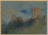 Landscape with a ruined castle (recto)