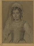 Half-length portrait of a girl