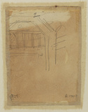 Sketch of arbour or doorway (verso)