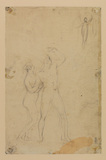 Study of Adam and Eve and an angel (verso)